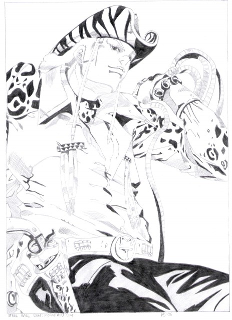Araki Hirohiko, JoJo's Bizarre Adventure, Mountain Tim, Member Art