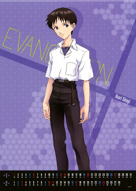 Gainax, Neon Genesis Evangelion, Neon Genesis Evangelion 2013 Chara Calendar, Shinji Ikari, Calendar