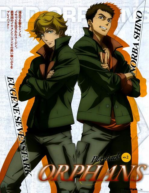Sunrise (Studio), Mobile Suit Gundam: Iron-Blooded Orphans, Norba Shino, Eugene Sevenstark, Newtype Magazine