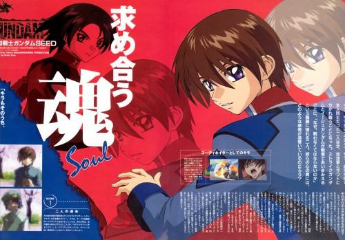Sunrise (Studio), Mobile Suit Gundam SEED, Athrun Zala, Kira Yamato, Magazine Page