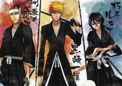 Bleach, Renji Abarai, Rukia Kuchiki, Ichigo Kurosaki