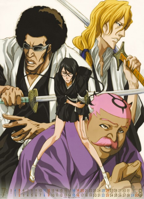 Studio Pierrot, Bleach, Bleach 2009 Calendar B, Hachigen Ushoda, Rojuro Otoribashi