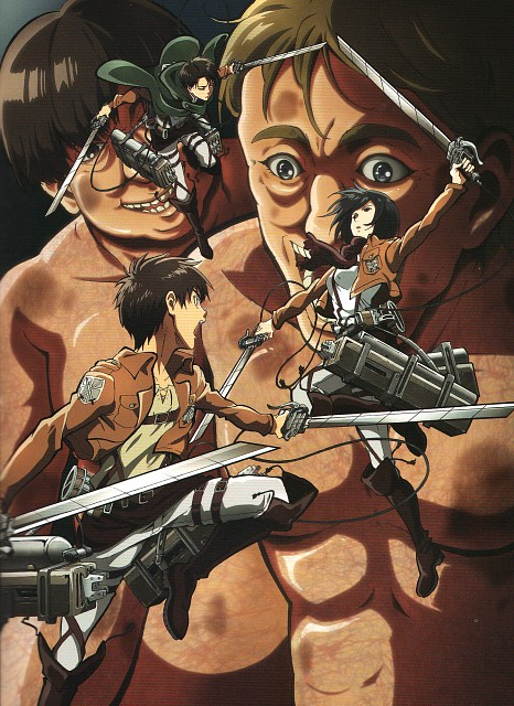 Production I.G, Shingeki no Kyojin, Mikasa Ackerman, Eren Yeager, Levi Ackerman