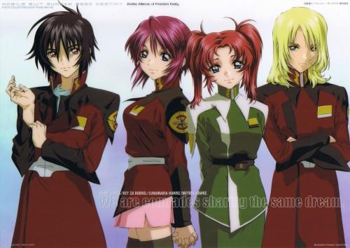Sunrise (Studio), Mobile Suit Gundam SEED Destiny, Meyrin Hawke, Lunamaria Hawke, Rey Za Burrel