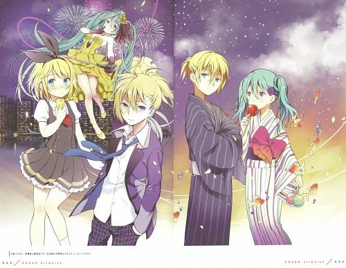 Wogura, Happiness -wogura artworks-, Vocaloid, Rin Kagamine, Len Kagamine