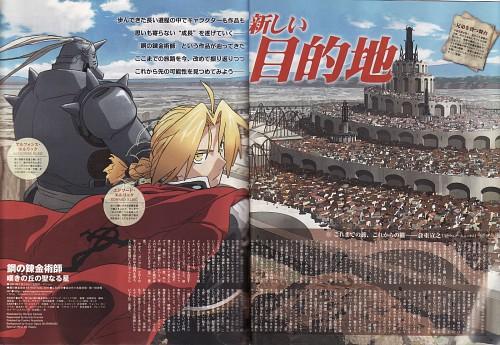 BONES, Fullmetal Alchemist, Edward Elric, Alphonse Elric, Magazine Page