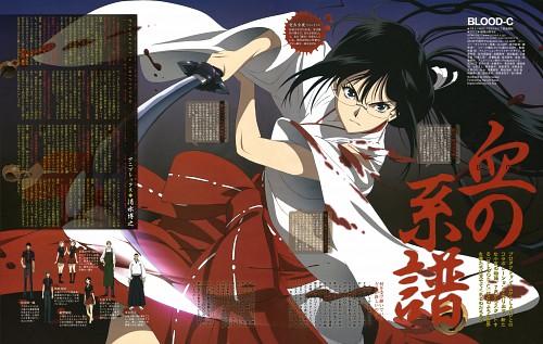 Production I.G, BLOOD-C, Saya Kisaragi, Magazine Page, Animage