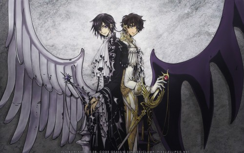 CLAMP, Lelouch of the Rebellion, Lelouch Lamperouge, Suzaku Kururugi Wallpaper
