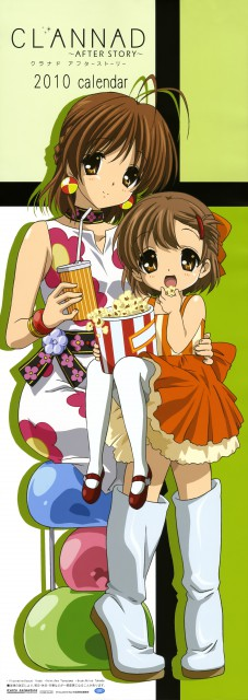Kazumi Ikeda, Kyoto Animation, Clannad ~After Story~ 2010 Calendar, Clannad, Nagisa Furukawa