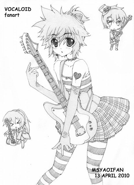 Carnelian, Vocaloid, Len Kagamine, Member Art