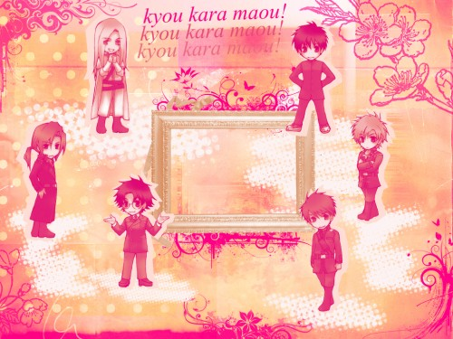 Kyou Kara Maou, Gwendal von Voltaire, Yuuri Shibuya, Murata Ken, Wolfram von Bielefeld Wallpaper