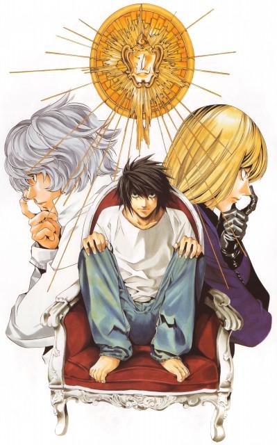 Takeshi Obata, Death Note, Blanc et Noir, Mello, L