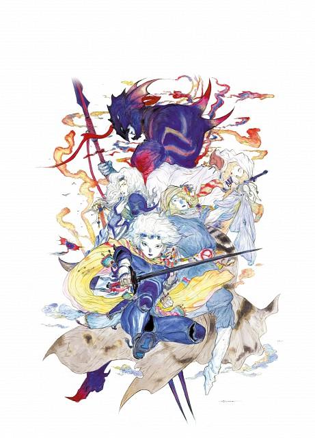 Yoshitaka Amano, Square Enix, Final Fantasy IV, Cecil Harvey, Kain Highwind