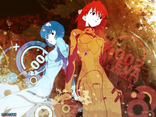 Yoshiyuki Sadamoto, Neon Genesis Evangelion, Rei Ayanami, Asuka Langley Soryu, Vector Art Wallpaper