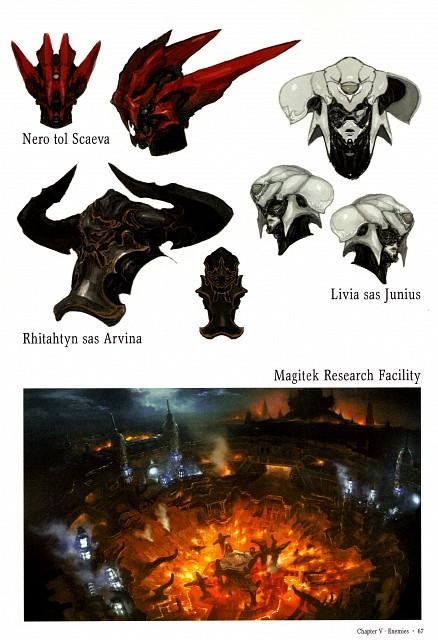 Square Enix, The Art of Eorzea, Final Fantasy XIV, Rhitahtyn Sas Arvina, Livia Sas Junius