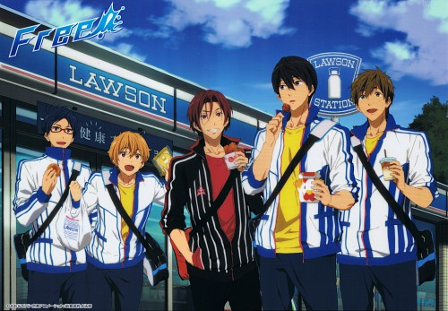 Kyoto Animation, Free!, Makoto Tachibana, Rin Matsuoka, Haruka Nanase (Free!)