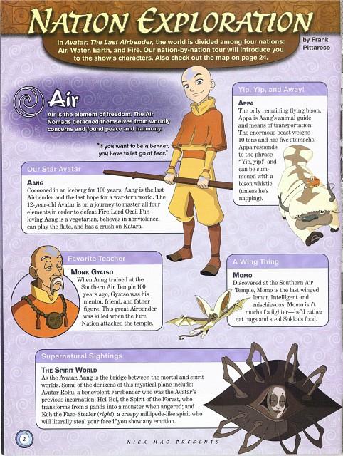 Nickelodeon, Avatar: The Last Airbender, Aang, Koh, Gyasto