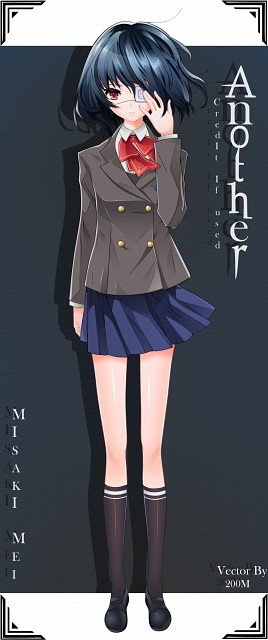 P.A. Works, Another, Mei Misaki, Vector Art