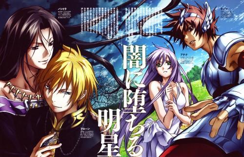 Shiori Teshirogi, Saint Seiya: The Lost Canvas, Pandora, Sasha, Pegasus Tenma