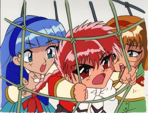 CLAMP, Magic Knight Rayearth, Fuu Hououji, Hikaru Shidou, Umi Ryuuzaki