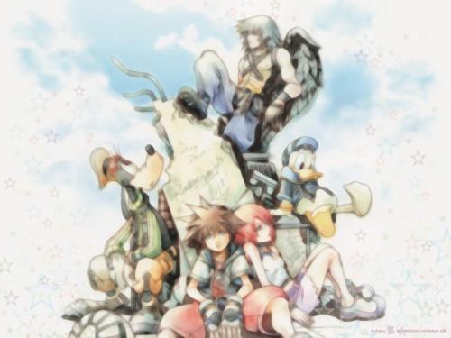 Square Enix, Kingdom Hearts, Sora, Goofy, Donald Duck Wallpaper