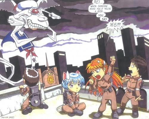 Yoshiyuki Sadamoto, Neon Genesis Evangelion, Asuka Langley Soryu, Rei Ayanami Wallpaper