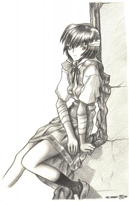 Yoshiyuki Sadamoto, Neon Genesis Evangelion, Rei Ayanami, Member Art