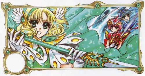 CLAMP, Magic Knight Rayearth, Magic Knight Rayearth 2 Illustrations Collection, Umi Ryuuzaki, Fuu Hououji