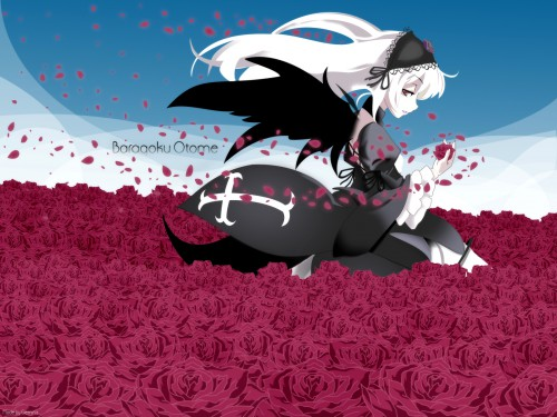 Peach-Pit, Studio Nomad, Rozen Maiden, Suigintou, Vector Art Wallpaper