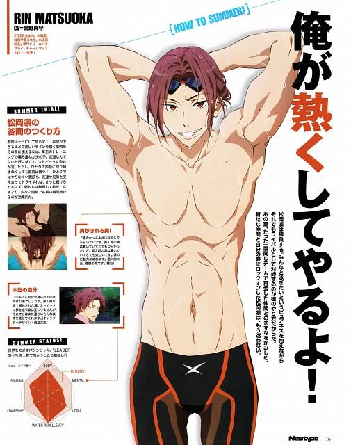 Nobuaki Maruki, Kyoto Animation, Free!, Rin Matsuoka, Newtype Magazine