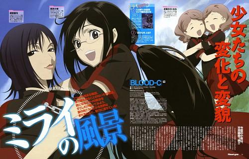 Production I.G, BLOOD-C, Nene Motoe, Saya Kisaragi, Nono Motoe