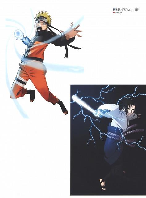 Naruto, The Art of Tetsuya Nishio: Full Spectrum, Naruto Uzumaki, Sasuke Uchiha