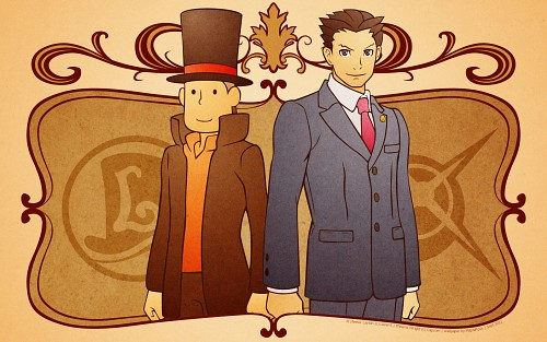 Capcom, Level-5, Ace Attorney, Professor Layton, Professor Layton (character) Wallpaper