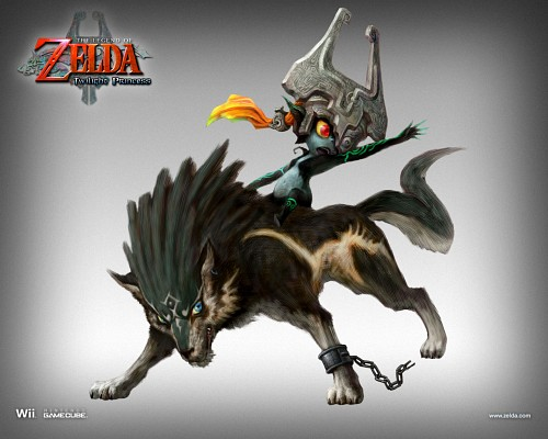 The Legend of Zelda: Twilight Princess, The Legend of Zelda, Midna, Link, Official Wallpaper