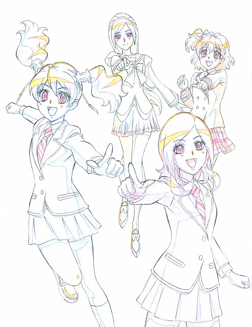 Toei Animation, Fresh Precure!, Hisashi Kagawa Toei Animation Precure Works, Love Momozono, Setsuna Higashi