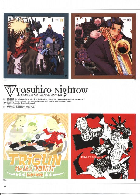 Yasuhiro Nightow, Madhouse, Trigun, The Collected Paintings Mini Book of Trigun Maximum, Meryl Stryfe