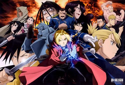 BONES, Square Enix, Fullmetal Alchemist, Scar (FMA), Roy Mustang