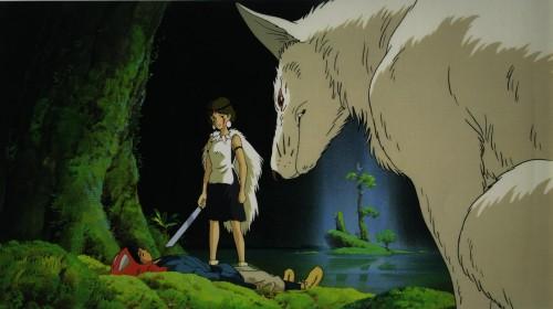 Kazuo Oga, Studio Ghibli, Princess Mononoke, Ashitaka, Moro