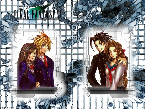 Square Enix, Final Fantasy VII: Crisis Core, Final Fantasy VII, Cloud Strife, Aerith Gainsborough Wallpaper