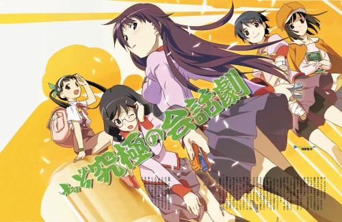 Shaft (Studio), Bakemonogatari, Nadeko Sengoku, Tsubasa Hanekawa, Kanbaru Suruga