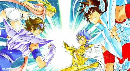 Shiori Teshirogi, Saint Seiya: The Lost Canvas, Pegasus Tenma, Crane Yuzuriha, Unicorn Yato