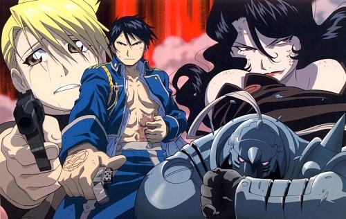 BONES, Fullmetal Alchemist, Alphonse Elric, Roy Mustang, Riza Hawkeye
