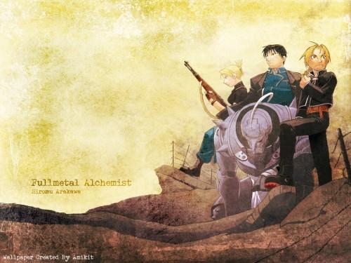 Hiromu Arakawa, BONES, Fullmetal Alchemist, Edward Elric, Riza Hawkeye Wallpaper