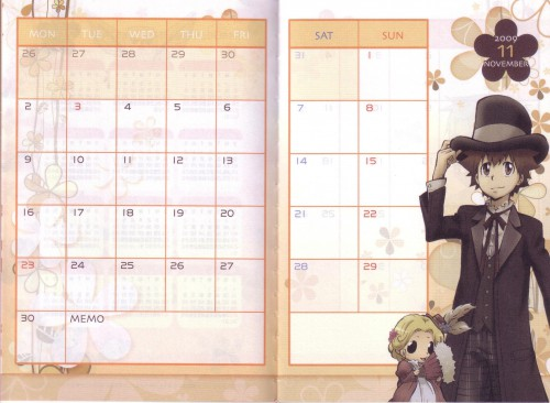 Akira Amano, Katekyo Hitman Reborn!, Tsunayoshi Sawada, Reborn (Character), Calendar