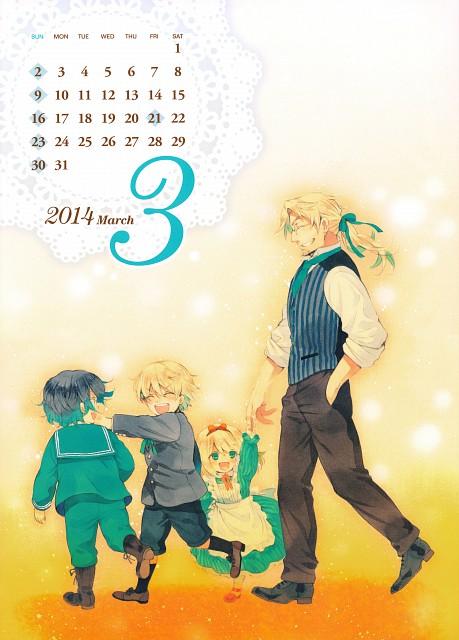 Jun Mochizuki, Xebec, Pandora Hearts, Pandora Hearts Comic Special Calendar 2014, Gilbert Nightray