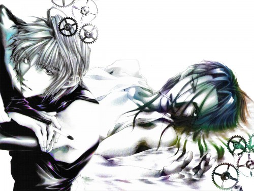 Kazuya Minekura, Studio Pierrot, Saiyuki, Sha Gojyo, Genjyo Sanzo Wallpaper