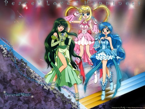 Pink Hanamori, SynergySP, Mermaid Melody Pichi Pichi Pitch, Rina Touin, Hanon Houshou Wallpaper