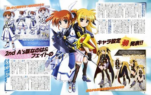 Seven Arcs, Mahou Shoujo Lyrical Nanoha, Fate Testarossa, Nanoha Takamachi, Magazine Page