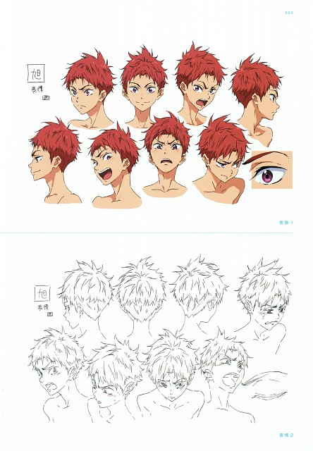 Futoshi Nishiya, Kyoto Animation, Free!, High Speed! Official Design Works, Asahi Shiina