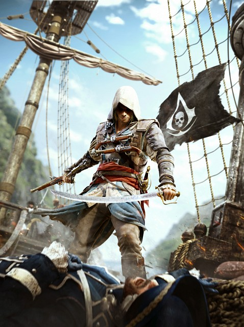 Ubisoft, Assassin's Creed IV, Edward Kenway, Official Digital Art